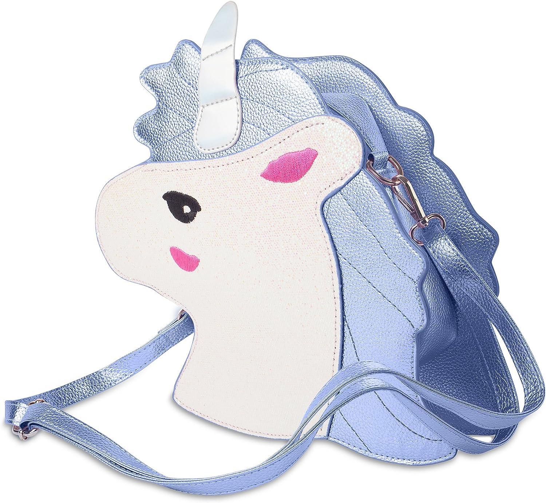 Unicorn Shaped Purse, Shoulder Bag For Girls, Cute 3D Tote Bag With Shoulder Strap For Little Ladies, In Pastel Colours - Blue