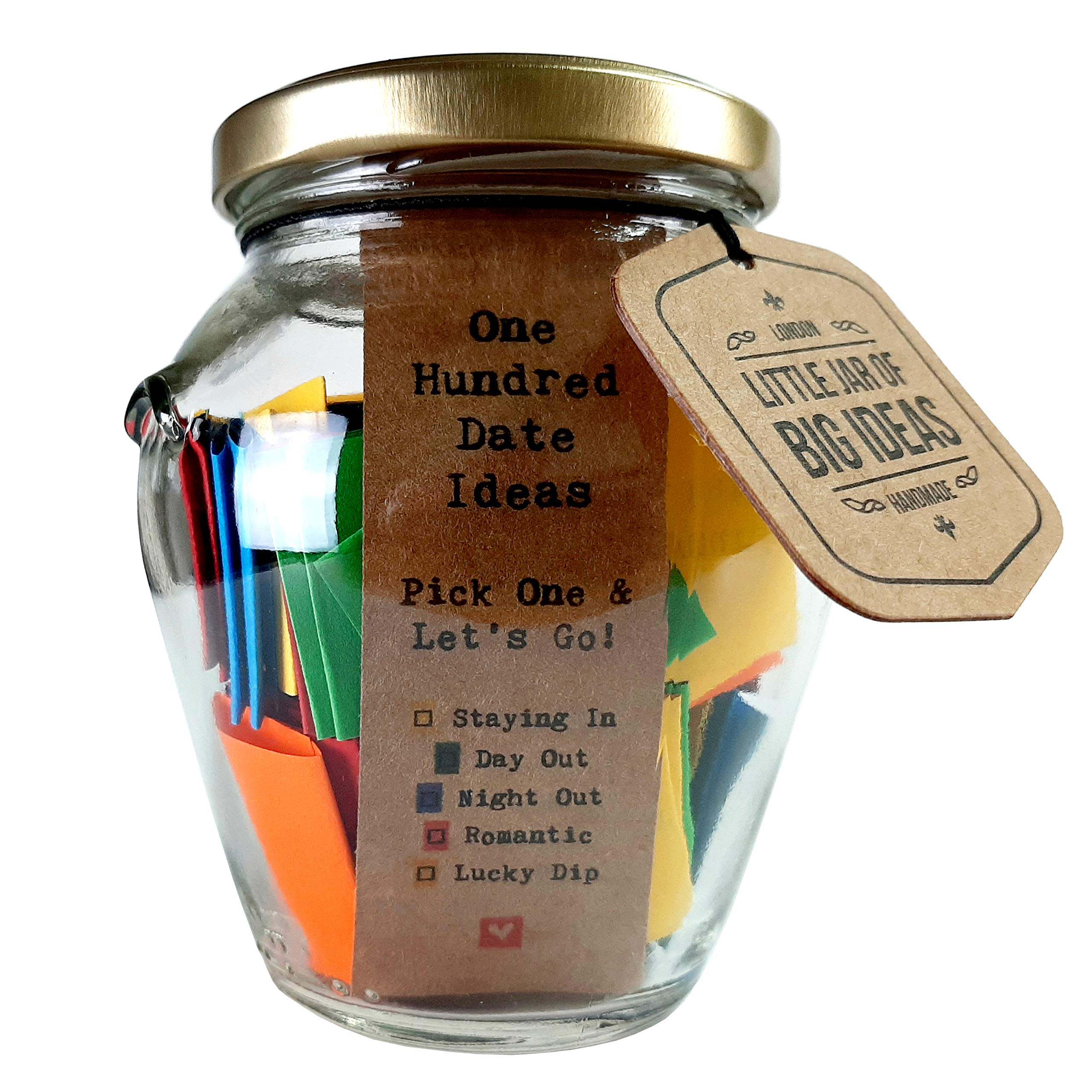 Little Jar Of Big Ideas 100 Date Ideas Pick One Let S Go Unique Thoughtful Gift Memorable Gift Unique Present Artisan Handcrafted Gift Standard Buy Online