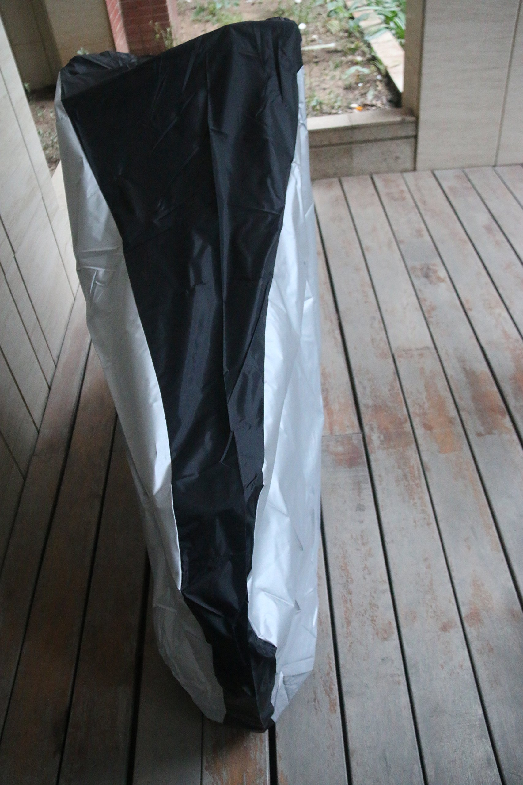 Silver & Black 190T nylon waterproof bike / bicycle cover (size: S by Lucky life (Image #2)