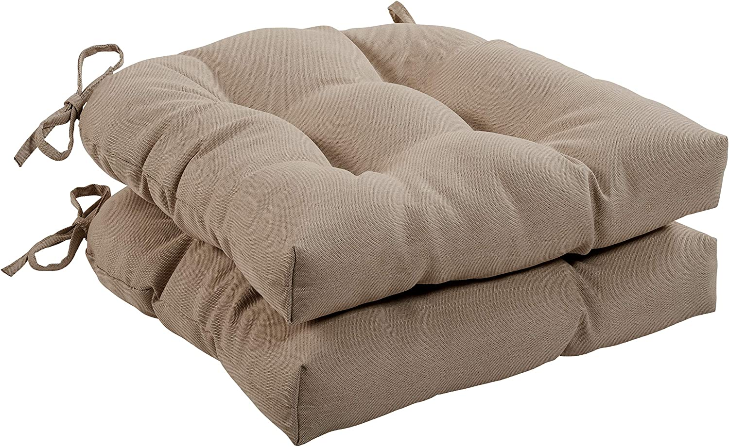 Quality Outdoor Living 29-KH1SCH Tufted Chair Cushion-Set of 2, Khaki
