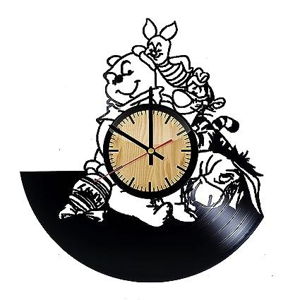 47ececcae40f ForLovedGifts Winnie-The-Pooh Cartoon Design Vinyl Wall Clock – Handmade  Gift for Any