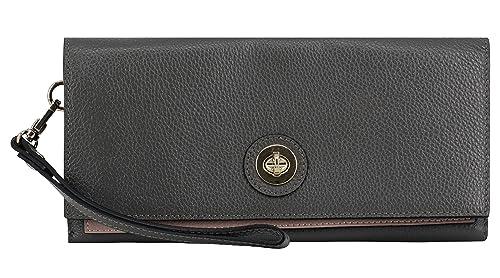 f6ee38cc63 Montte Di Jinne - Premium Soft Grainy Leather Foldover Layerd Shoulder  Cross Body Purse Clutch Bag with Postman's Lock