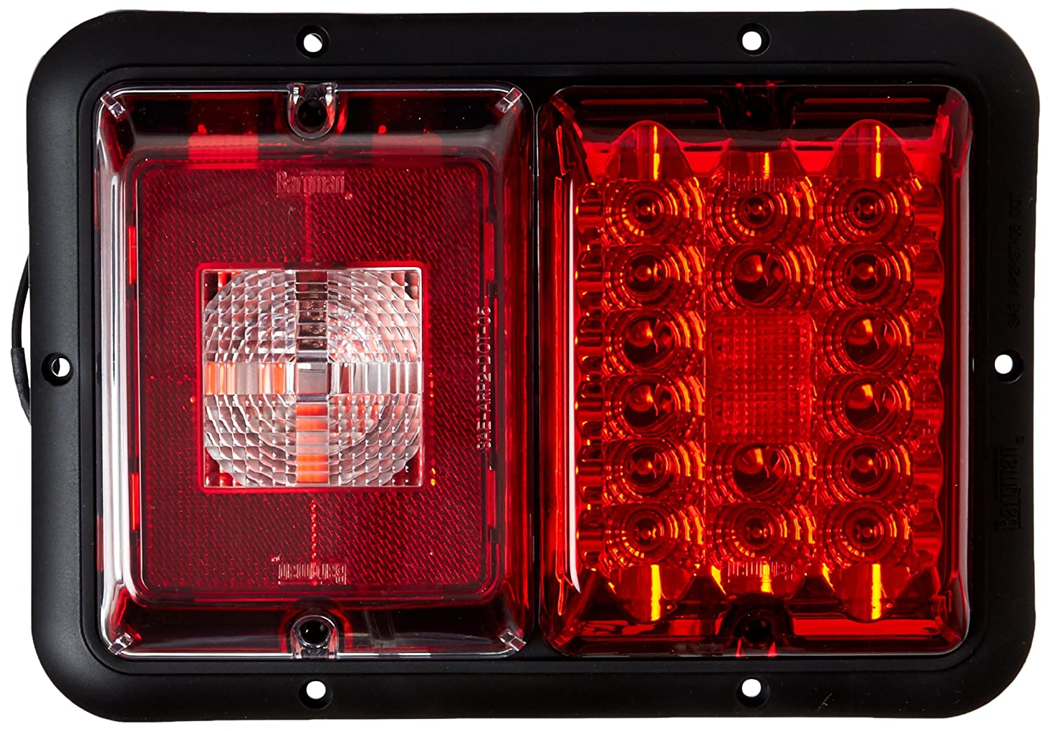 Bargman 47-84-808 Horizontal Mount Taillight, Red