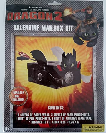 How To Train Your Dragon 2 Toothless Valentine Mail Box Kit Mail Box NOT  INCLUDED