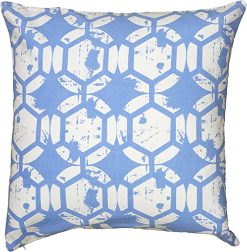 Rizzy Home T06141 Decorative Pillow, 20 X20 , Blue