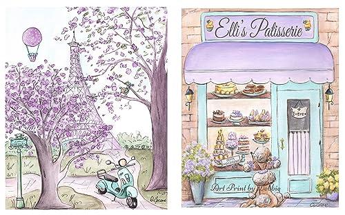 Paris Theme Nursery Prints Paris Theme Party Vespa Pink Paris Bedroom Decor Paris Baby Shower Gift Idea Personalized French Flower Shop
