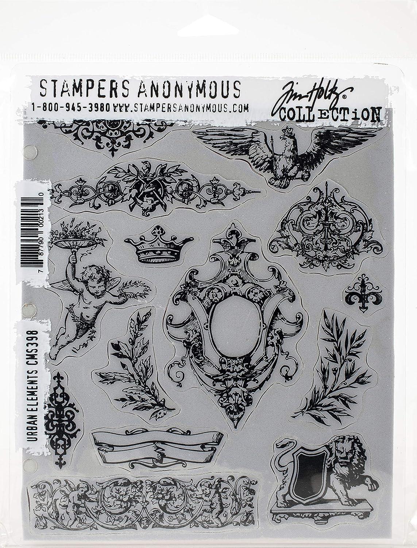 Tim Holtz Stampers Anon Cling RBBR Stamp Set ELEM Urban Elements