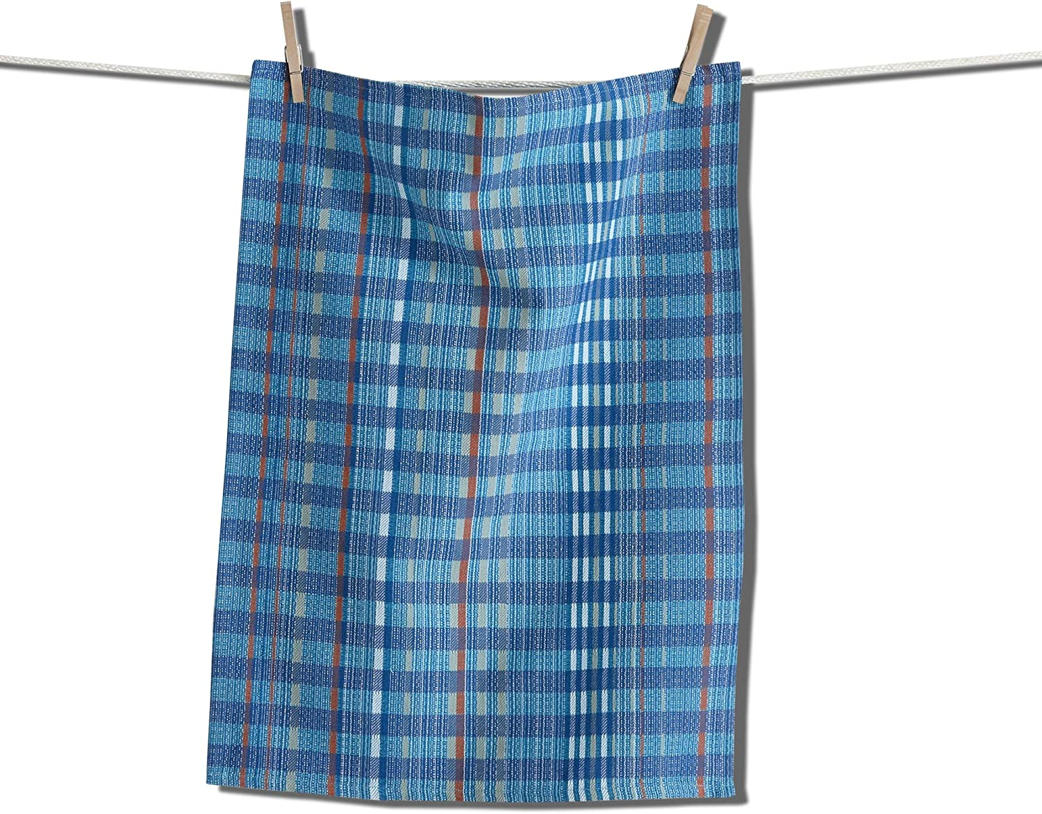 tag Lido Flour Sack Dishtowel Blue Dish Cloth for Drying Dishes and Cooking Blue