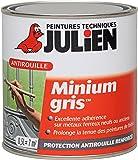 Julien 101003 Minium Gris Peinture antirouille 0,50 L Mat