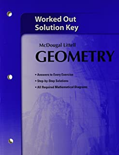Amazon holt mcdougal larson geometry common core worked out mcdougal littell geometry worked out solution key fandeluxe Choice Image
