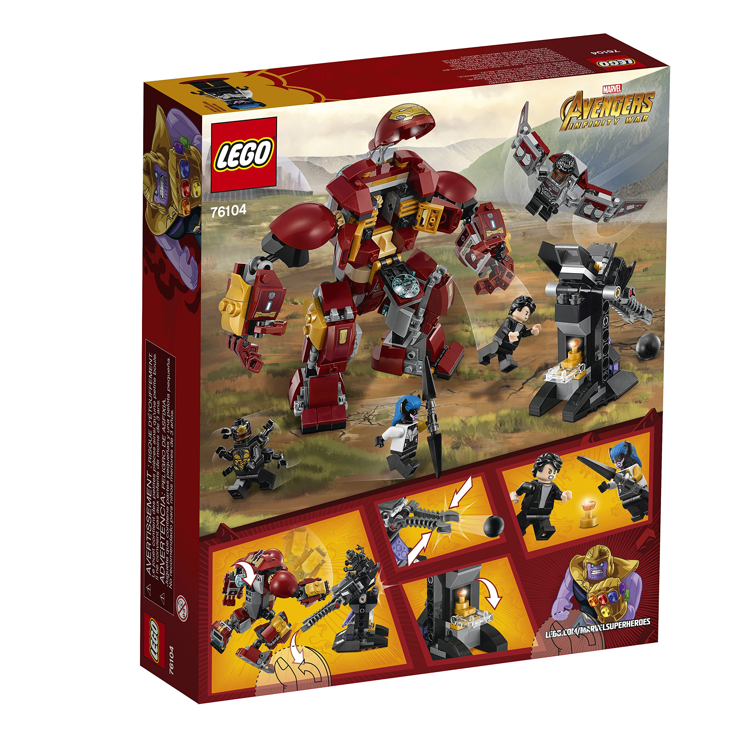 LEGO Marvel Super Heroes Avengers: Infinity War The Hulkbuster Smash-Up 76104 Building Kit (375 Piece) by LEGO (Image #9)