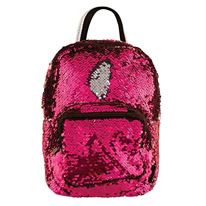 b9426f381ffc Lab by Fashion Angels Magic Sequin Mini Backpack - Pink  Silver  Office  Products