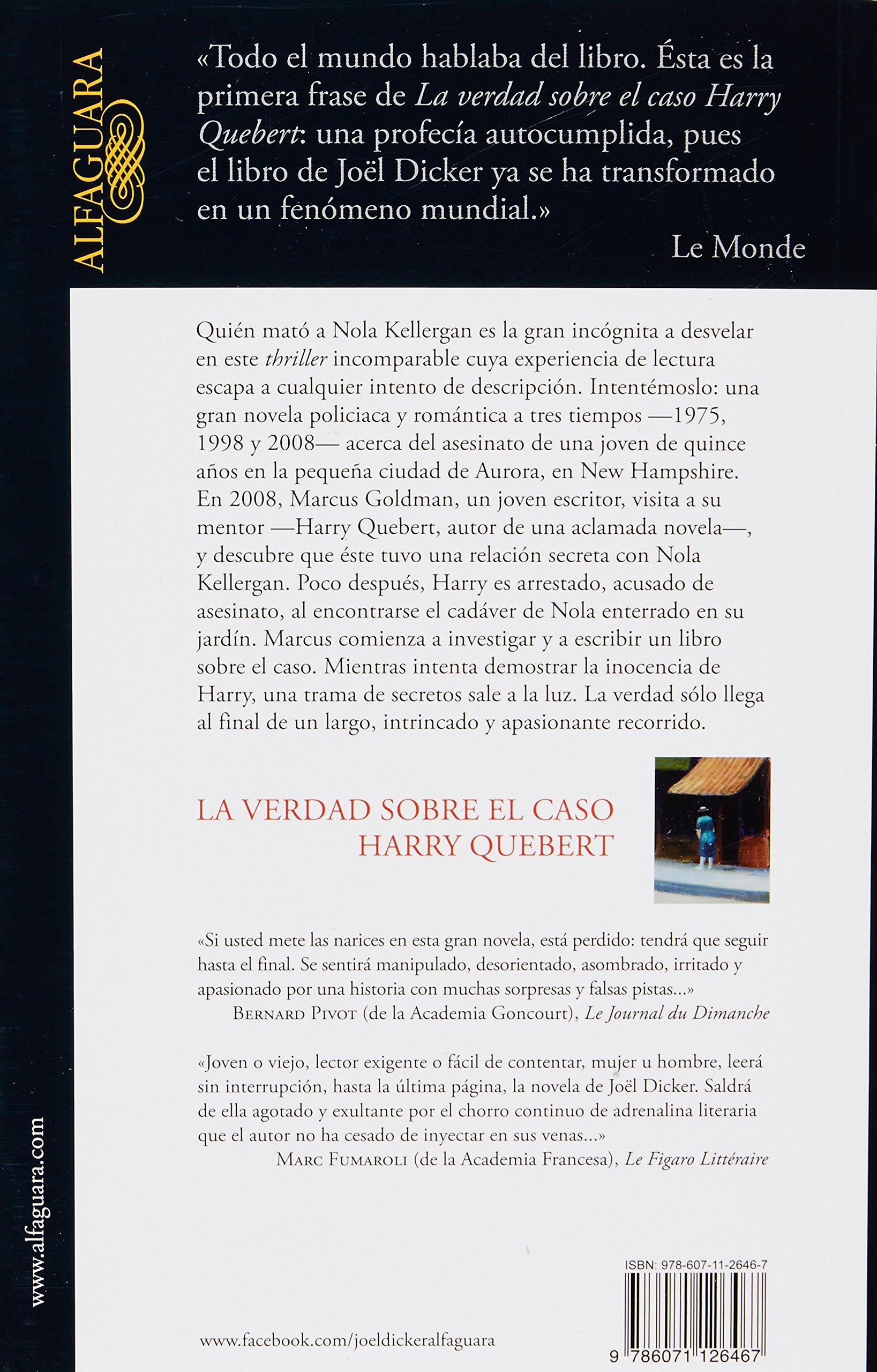 La Verdad Sobre El Caso Harry Queber: Amazon.es: Joël Dicker ...