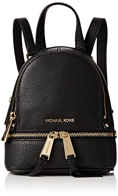 332ad9abb4 Michael Kors 30T6GEZB1L Womens Rhea Zip Satchel Black (Black)   Amazon.co.uk  Shoes   Bags