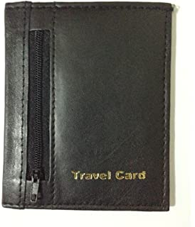 Travel Pass 2 x Credit Card Tan Oyster ID Holder Genuine Leatherite