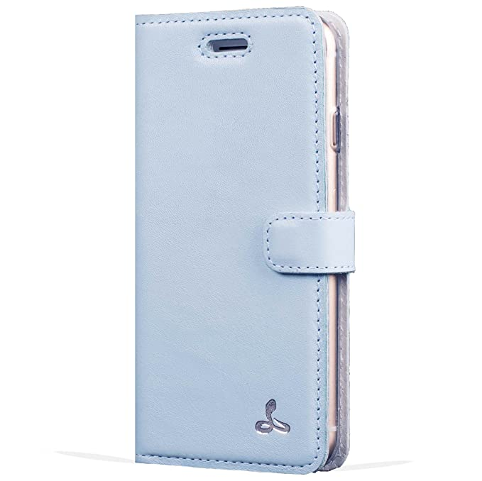 pick up d7584 51558 Apple iPhone 6 / 6S Premium Pastel Leather Case with Credit Card / Note  Slot for Apple iPhone 6 / 6S (Sky Blue) from the Pastel Collection by ...