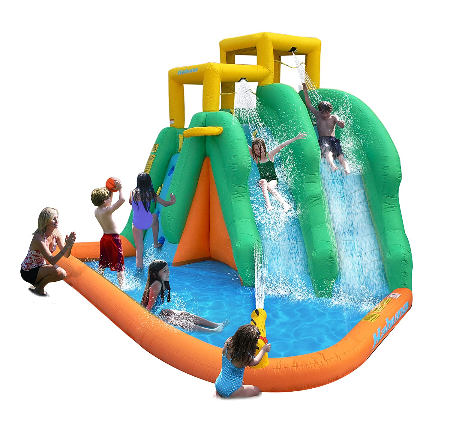 amazon com magic time twin falls inflatable water slides and