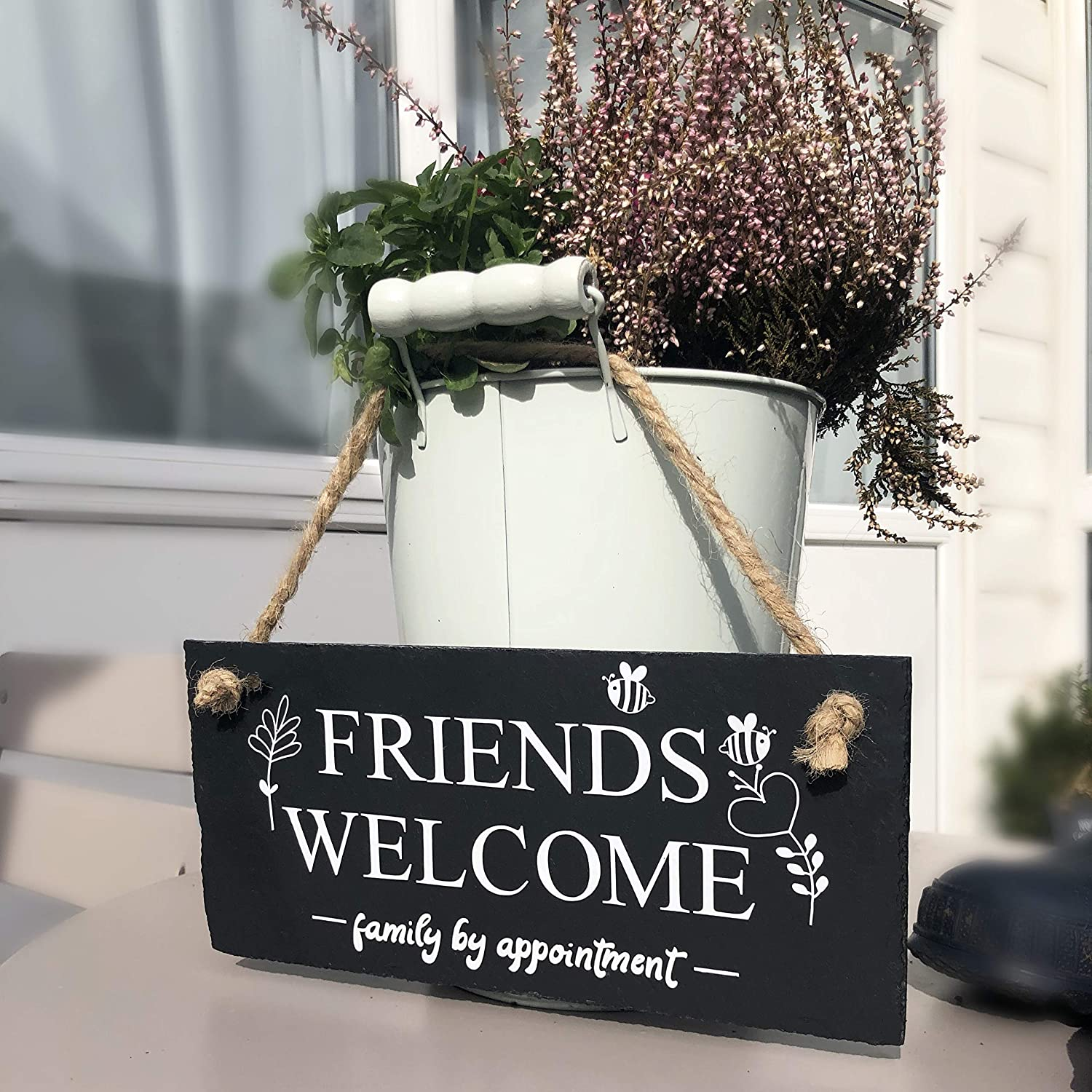 Friends welcome Family by appointment Hallway sign Wall sign for the home