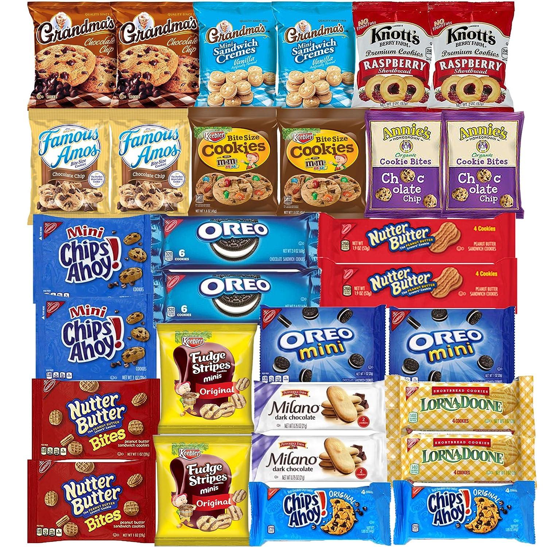 B07TRPVK58 Cookies Variety Pack Assortment Sampler Individually Wrapped Cookies Bulk Care Package (30 Count) 91nSiNJAeYL