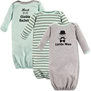 Luvable Friends Baby Cotton Gowns, Little Man 3Pk, 0-6 Months