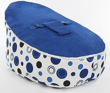 BLUE CIRCLES LUXURY SOFT BABY BEAN BAG CHAIR 1