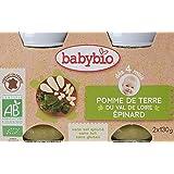 Babybio Pots Pomme de Terre du Val de Loire Epinard 260 g - Lot de 6