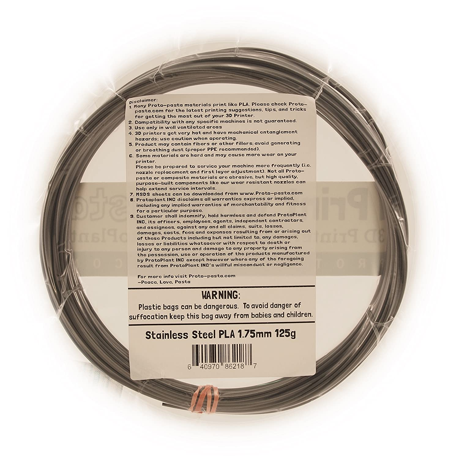 Proto-pasta Composite Stainless Steel PLA 1.75mm 500g