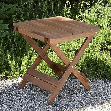 Plant Theatre Adirondack Table basse de jardin pliable en bois ...