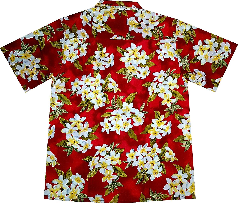 """Camisa Hawaiana Hombre """"Summer Flowers (red)"""", 100% poliéster, tamaño M: Amazon.es: Ropa y accesorios"""