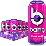 Bang Frose Rose Energy Drink, 0 Calories, Sugar Free with Super Creatine, 16 Fl Oz (Pack of 12)