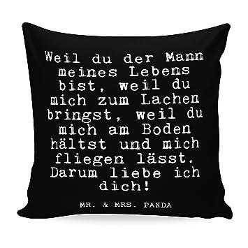 Mr Mrs Panda Kissen 40x40 Mit Spruch Weil Du Der Mann Meines