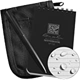 """Rite in the Rain Weatherproof 3"""" x 5"""" Top Spiral Notebook Kit: Black CORDURA Fabric Cover, 3"""" x 5"""" Black Notebook, and…"""