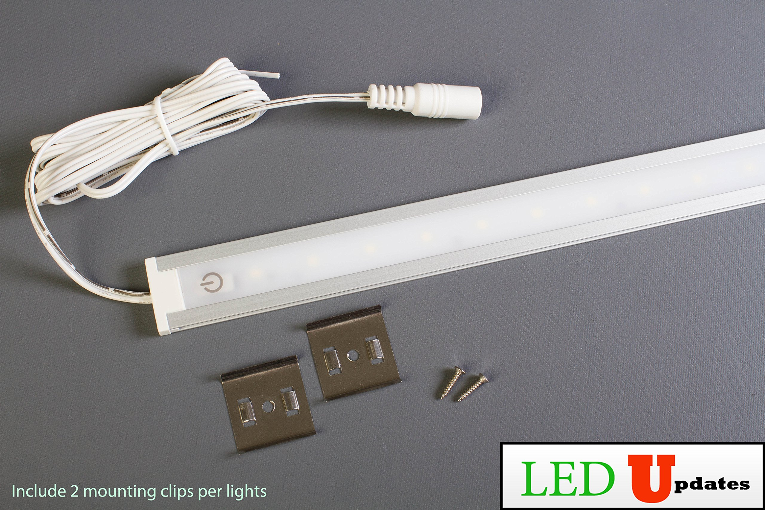 LEDupdates 24 inches Under Cabinet LED light for work shop & closet with UL Power adapter by LEDUPDATES (Image #3)