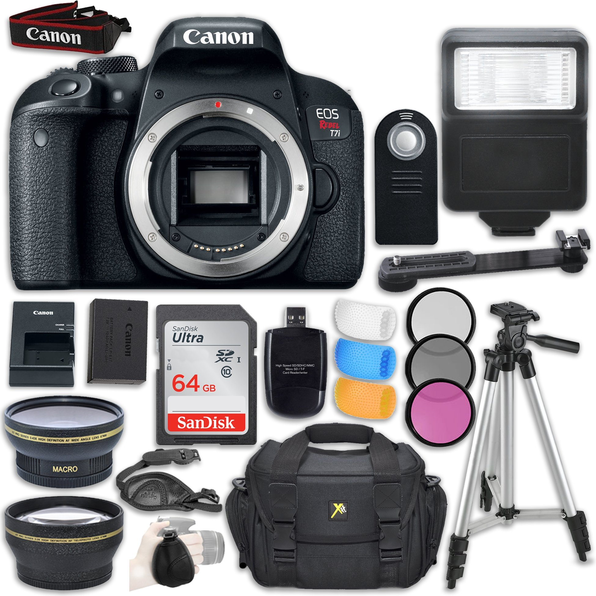 Canon EOS Rebel T7i DSLR Camera (Body Only) + Accessory Bundle