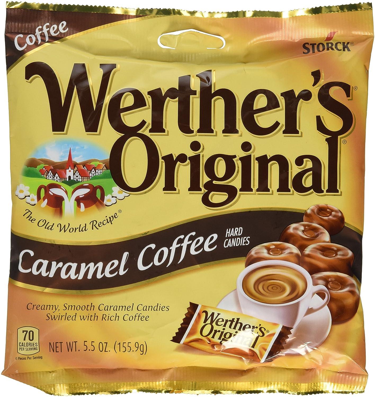 Werthers Original Caramel Coffee Hard Candy Pieces Round Hard Candy 5.5 Oz