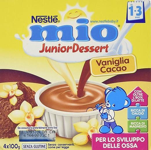 18 opinioni per Nestlé Mio- Merenda al Latte Vaniglia e Cacao, senza Glutine, da 1 Anno- 3
