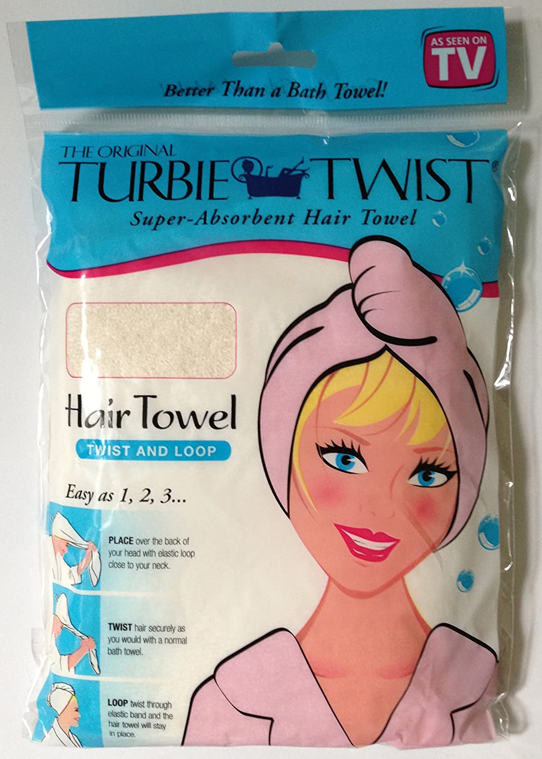 Amazon Com The Original Turbie Twist Cotton Hair Towel Off White