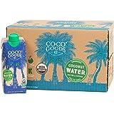 CocoGoodsCo Single-Origin 100% Organic Coconut Water, Non-GMO, Never from Concentrate (16.9 fl. oz, 12 pack)
