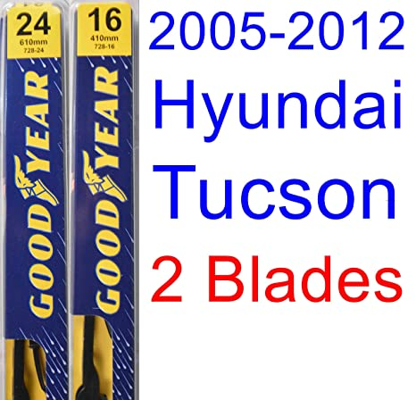 Amazon.com: 2005-2012 Hyundai Tucson Replacement Wiper Blade Set/Kit (Set of 2 Blades) (Goodyear Wiper Blades-Premium) (2006,2007,2008,2009,2010,2011): ...