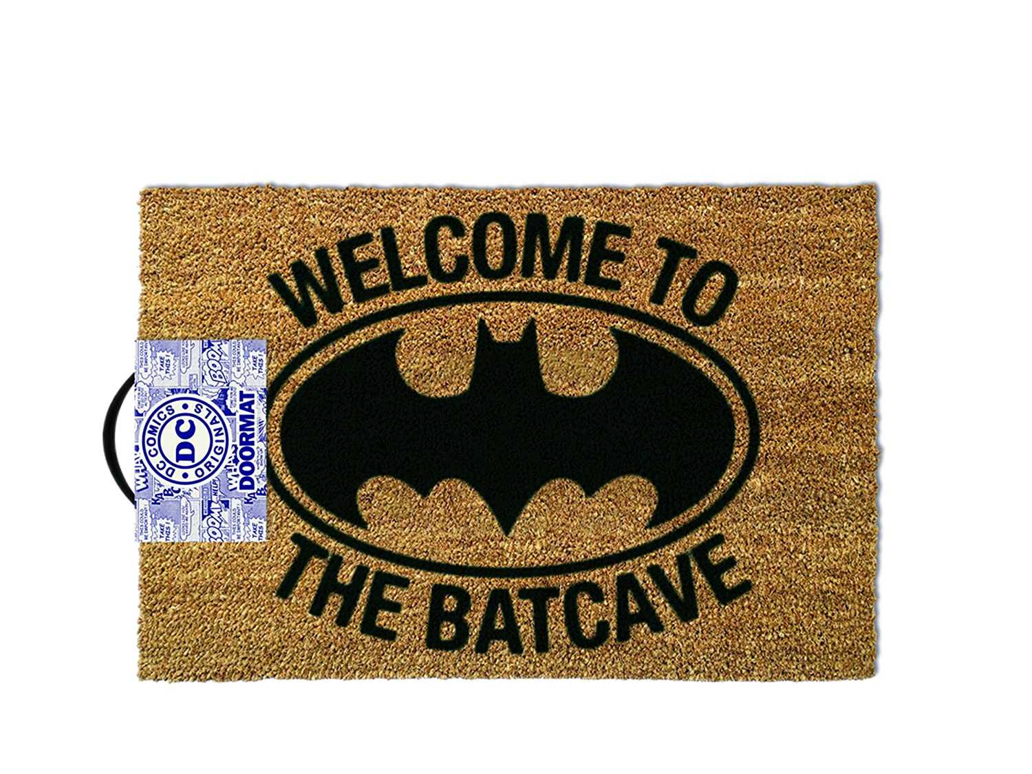 Amazon.com: Batman Welcome To The Batcave Door Mat Brown 60x40cm ...