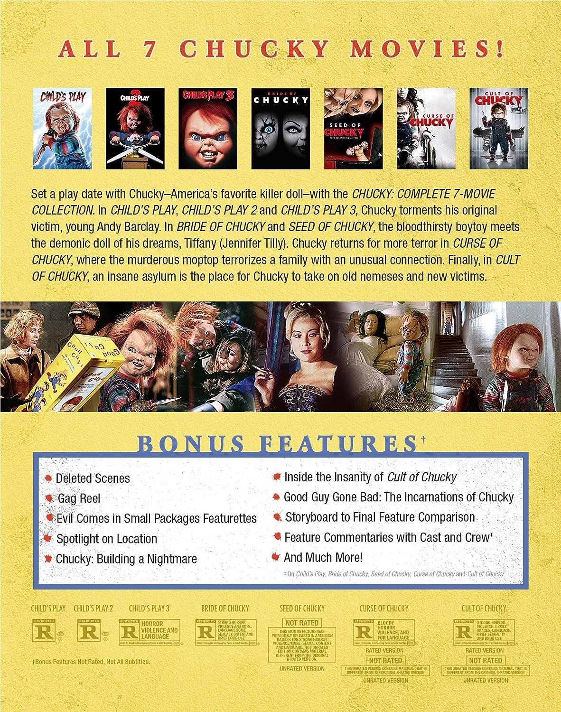 Chucky: Complete 7-Movie Collection Edizione: Stati Uniti Italia Blu-ray: Amazon.es: Cine y Series TV