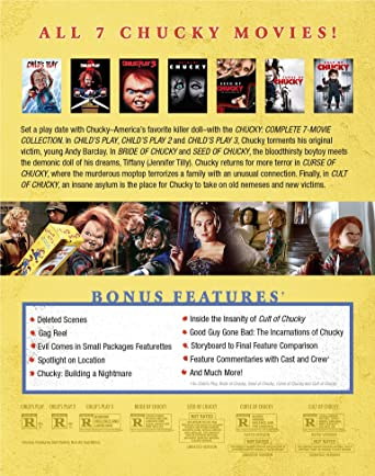 Amazon com: Chucky: Complete 7-Movie Collection [Blu-ray