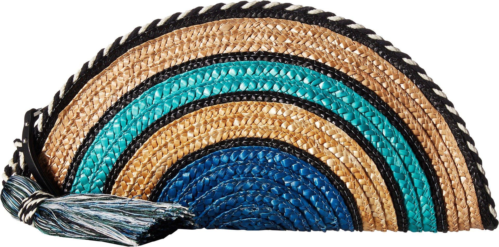 Rebecca Minkoff Women's Straw Taco Clutch Blue Multi One Size