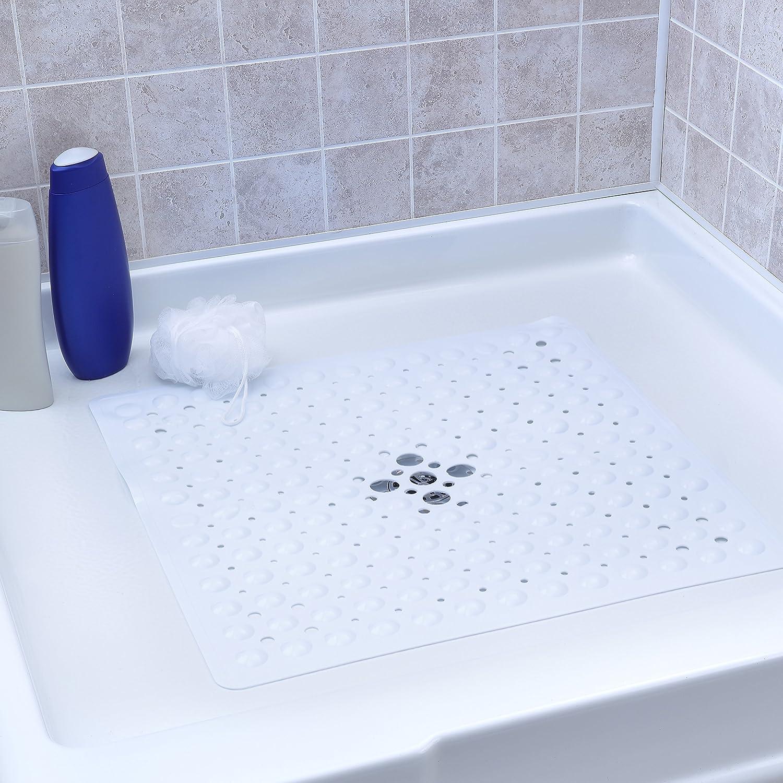 Amazon.com: Melange 612409784261 Non-Slip Anti-Bacterial Square PVC ...