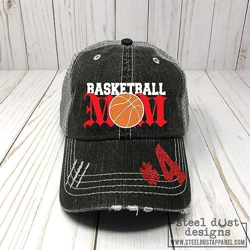 57e582618a Amazon.com: Basketball Mom Distressed Trucker Hat, Baseball Cap, Sports  Team Spirit Wear for Mom: Handmade