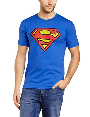 DC SUPERMAN COMICS Mens Colour Logo 5 Crew Neck Short Sleeve T-Shirt DC Comics 2018 Discount New Fashion Style Of 100% Guaranteed Sale Very Cheap IESIOP