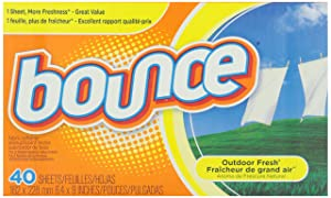 Bounce Outdoor Fresh Scented Fabric Softener Dryer Sheets, 40 Count