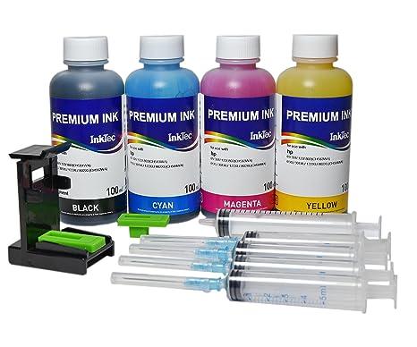 Kit InkTec Tinta Premium fotografico de Carga Cartuchos Original ...