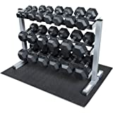Body-Solid Dumbbell Rack with Rubber Dumbbells