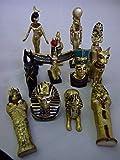 Lot de 12 figurines égyptiennes, Monde d'Egypte